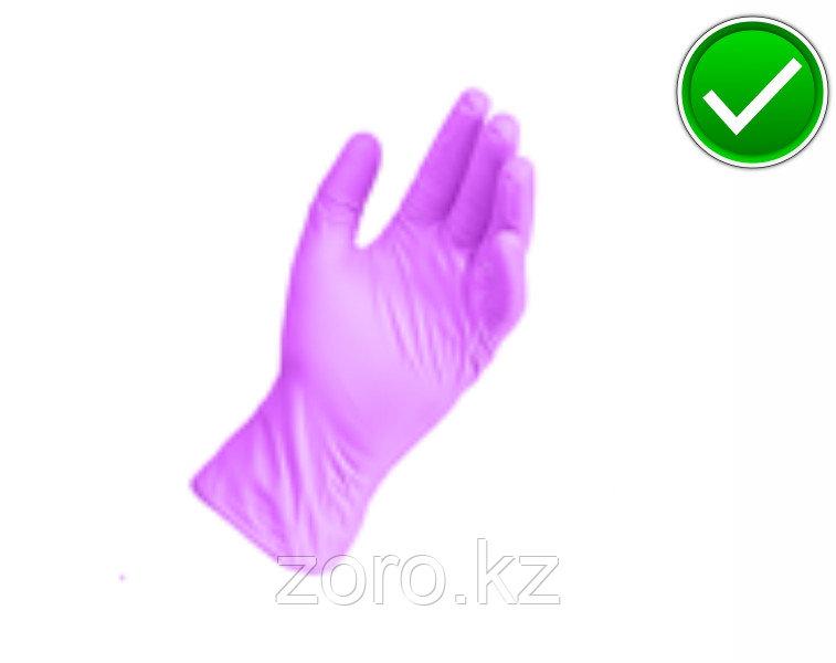 Перчатки нитриловые, неопудренные, нестерильные. Сиреневый. 100шт в упаковке