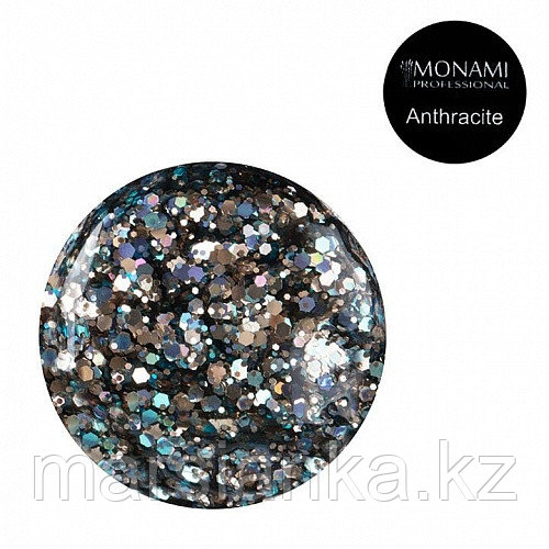 Гель-лак Monami с блеском Anthracite, 5 гр