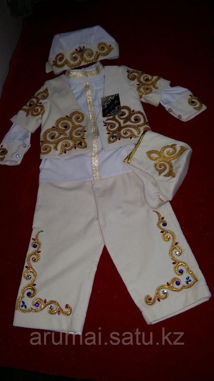 Национальный костюм для мальчиков годовалого возраста, для обряда «Тұсаукесер». - фото 1