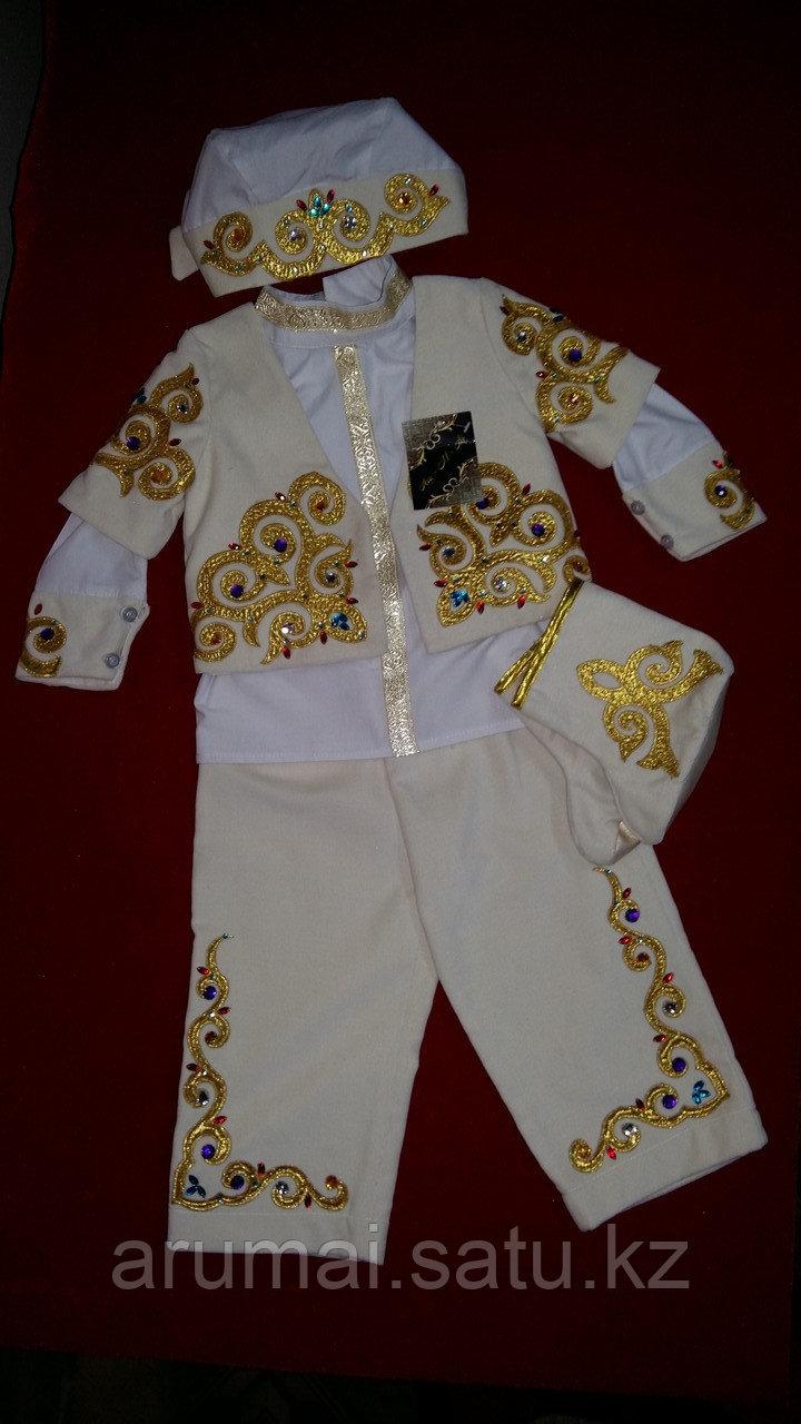 Национальный костюм для мальчиков годовалого возраста, для обряда «Тұсаукесер». - фото 2