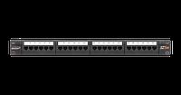 Патч-панель 1U 24 порта Кат.6 RJ45/8P8C неэкран., черная, шт