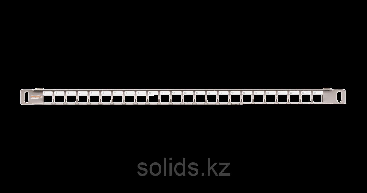 Патч-панель 1U наборная под 24 модуля Keystone UTP/STP, металлик, шт