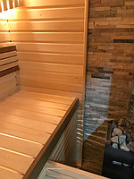 Реконструкция русской бани с дровяной печью. Размер = 2,5 х 1,7 х 2,1 м. Адрес: г. Алматы, Калкаман, мкр-н Шугыла, ул. Сыгай. 10