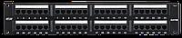 Патч-панель  2U 48 портов Кат.5e RJ45/8P8C неэкран, черная, шт