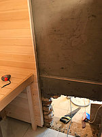Реконструкция русской бани с дровяной печью. Размер = 2,5 х 1,7 х 2,1 м. Адрес: г. Алматы, Калкаман, мкр-н Шугыла, ул. Сыгай. 20