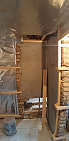 Реконструкция русской бани с дровяной печью. Размер = 2,5 х 1,7 х 2,1 м. Адрес: г. Алматы, Калкаман, мкр-н Шугыла, ул. Сыгай. 23