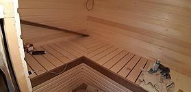 Реконструкция русской бани с дровяной печью. Размер = 2,5 х 1,7 х 2,1 м. Адрес: г. Алматы, Калкаман, мкр-н Шугыла, ул. Сыгай. 27