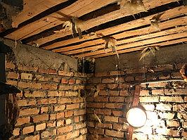 Реконструкция русской бани с дровяной печью. Размер = 2,5 х 1,7 х 2,1 м. Адрес: г. Алматы, Калкаман, мкр-н Шугыла, ул. Сыгай. 28