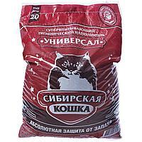 Впитывающий наполнитель Сибирская кошка Универсал 20 л