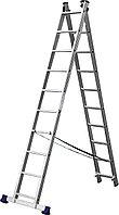 Лестница СИБИН универсальная, двухсекционная, 10 ступеней, фото 1