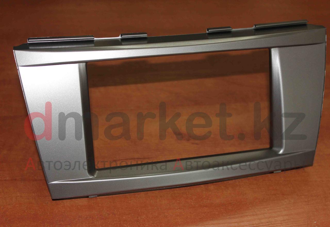 Переходная рамка Toyota Camry 40-45, 2DIN, пластик, серебристый