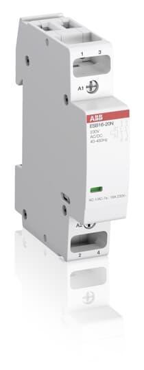 1SBE111111R0102 Модульный контактор ESB16-02N-01 (16А АС-1, 2НЗ), катушка 24 В AC/DC
