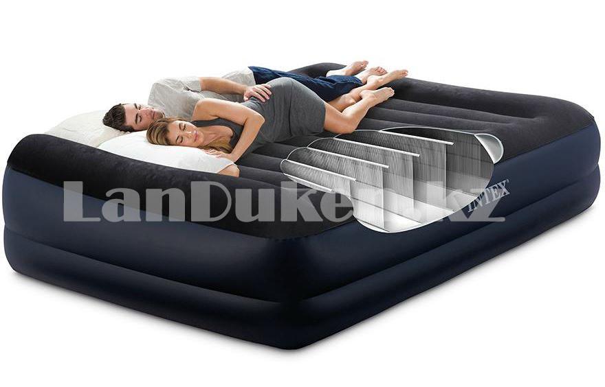 Надувной матрас двуспальный с подушкой Intex 152*203*42 см 64124 - фото 1