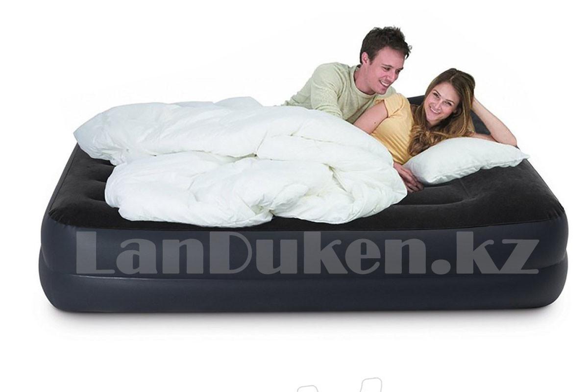Надувной матрас двуспальный с подушкой Intex 152*203*42 см 64124 - фото 2