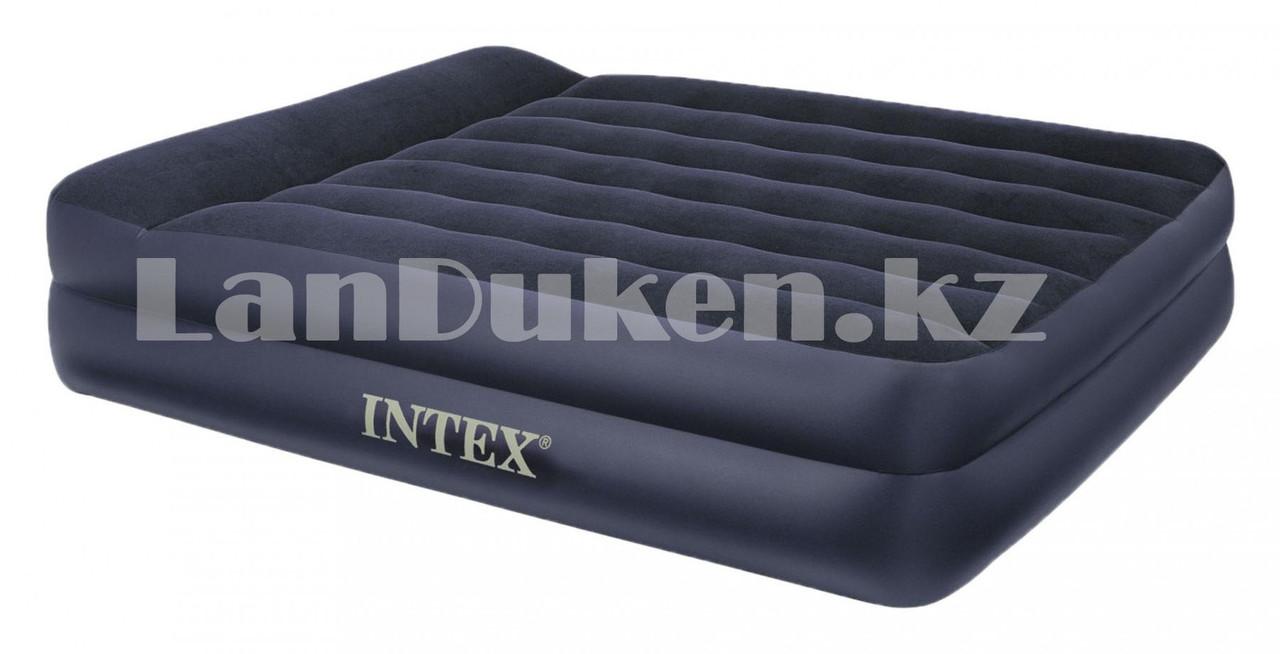 Надувной матрас двуспальный с подушкой Intex 152*203*42 см 64124 - фото 6