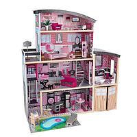 Кукольный домик с мебелью для Барби Kidkraft Cияние (65826)