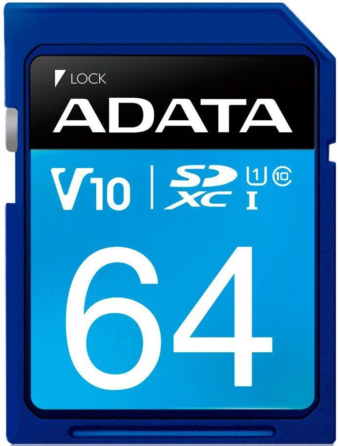 Карта памяти  SD  64GB Adata класс 10 SDXC 100mb/s