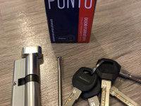 Цилиндровый механизм Punto A202/70 SN, с вертушкой., 30х10х30 мм, 5 ключей, цвет матовый хром