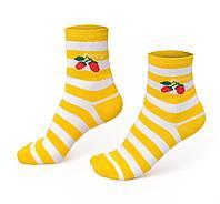 Женские носки в полоску, желтые