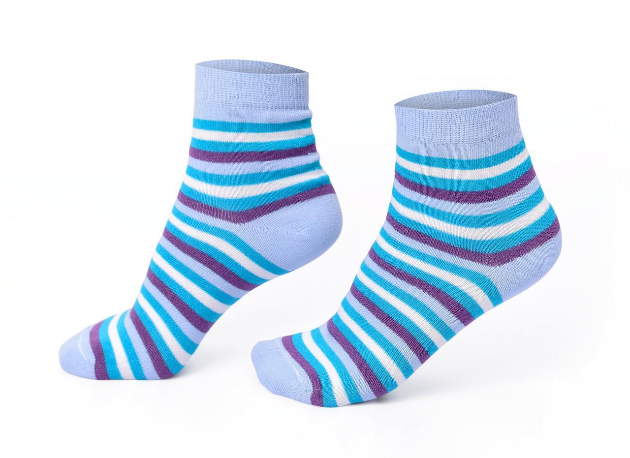 Женские носки, голубые в полоску