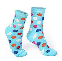 Женские носки, голубые в горошек