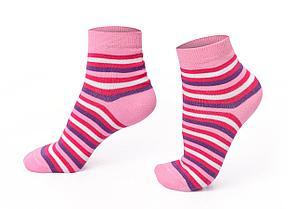 Носки женские, розовые в полоску