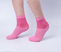 Носки детские, розовые с полоской