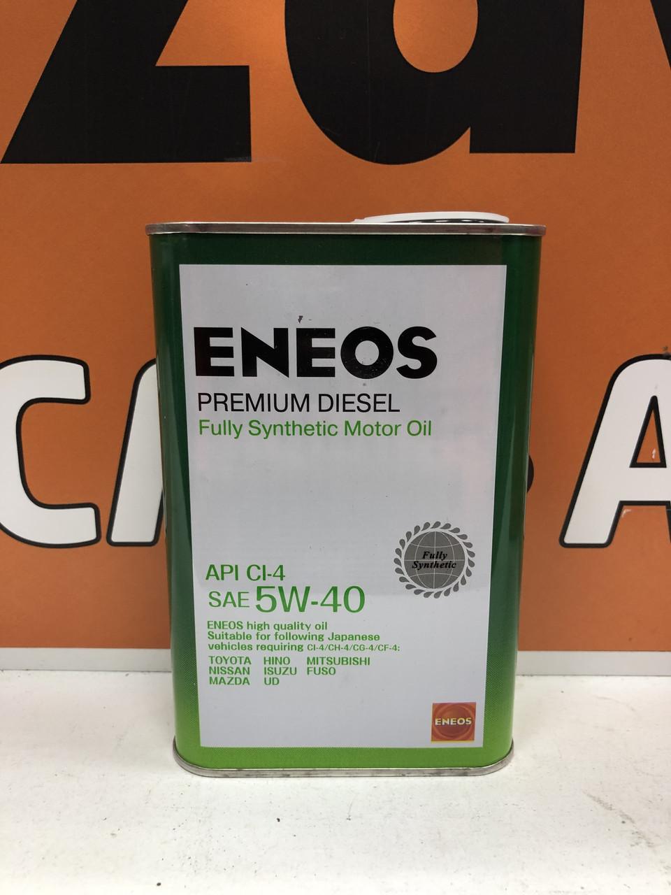 Моторное масло ENEOS SUPER DIESEL 5W40 CH-4  0.946L
