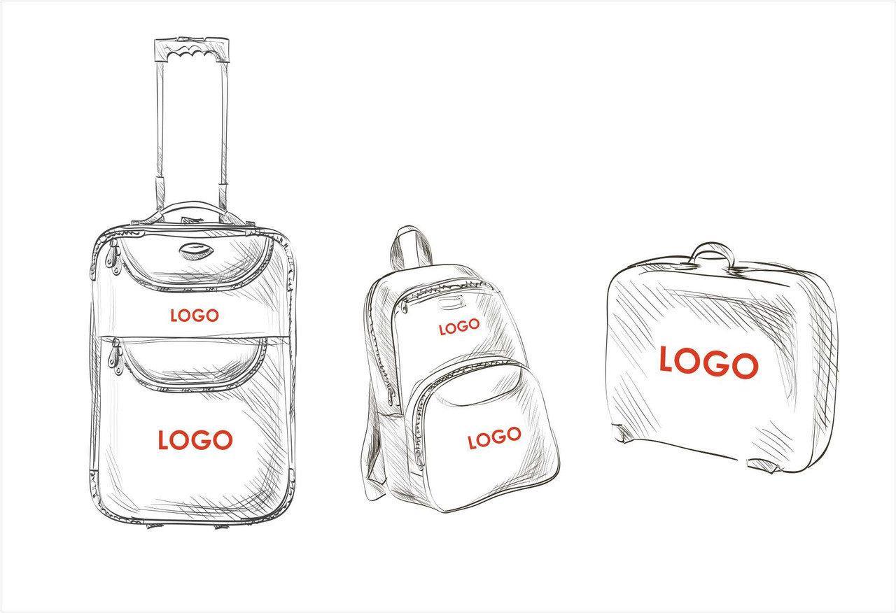 Печать на портфелях и чемоданах