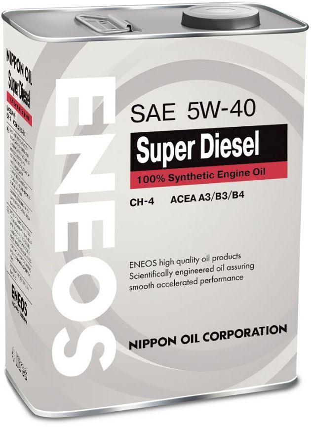 Моторное масло ENEOS SUPER DIESEL 5W40 CH-4 4L
