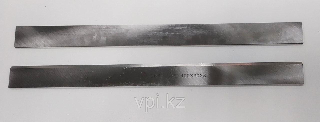Нож на фуговально-рейсмусовый станок, быстрорежущая сталь -HSS, 400*30*3мм
