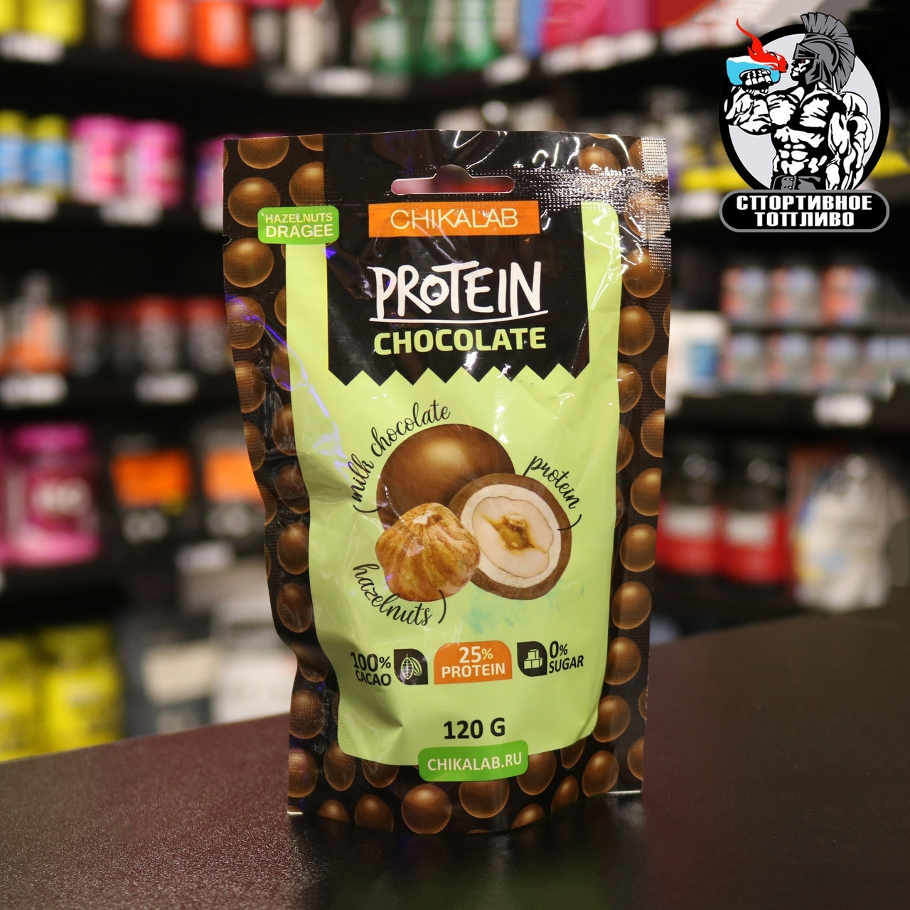 BombBar Chikalab - орехи в шоколаде 20гр
