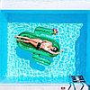Огромный надувной матрас Кактус, плот для взрослых, пляжный матрас, фото 3