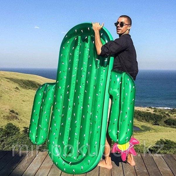 Огромный надувной матрас Кактус, плот для взрослых, пляжный матрас