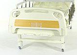 Медицинская кровать Med-Mos Е-8 MM-18ПЛН (2 функции) с полкой и столиком, фото 2