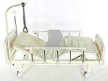 Медицинская кровать Med-Mos Е-8 MM-18ПЛН (2 функции) с полкой и столиком, фото 4