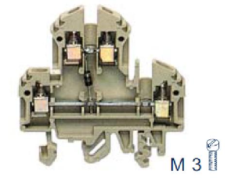 RKD 4/D2 BG Двухуровневая клемма с диодом, Винтовое соединение, 4 mm², 400 V, 10 A, Conta Clip