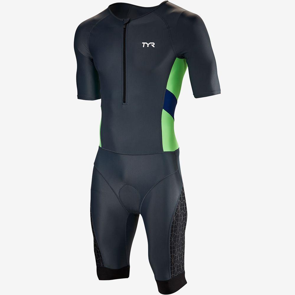 Стартовый костюм с коротким рукавов с молнией спереди TYR Men'S Competitor Speedsuit