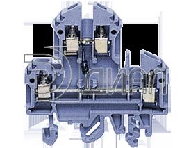 RKD 4/D2 BU Двухуровневая клемма с диодом, Винтовое соединение, 4 mm², 400 V, 10 A, Conta Clip