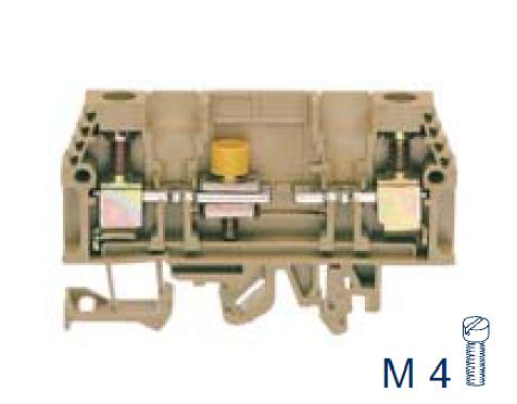 PTK 10/LT BG Контрольная разделительная клемма, Винтовое соединение, 4 mm², 400 V, 10 A, Conta Clip