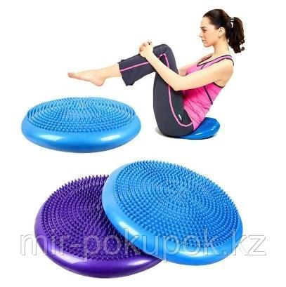 Надувной диск подушка для баланса (балансборд, резиновая балансировочная подушка, фитбол, балансировочный диск
