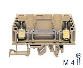 PTK 10/DU BG Контрольная разделительная клемма, Винтовое соединение, 4 mm², 400 V, 10 A, Conta Clip