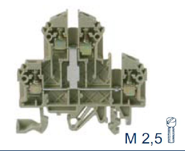 RKD 2,5 SV BG Двухуровневая рядная клемма, Винтовое соединение, 2,5 mm², 500 V, 24 A, Conta Clip