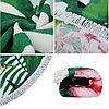 """Покрывало для отдыха """"Тропические цветы"""", микрофибра (пляжный коврик полотенце), фото 2"""