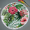 """Покрывало для отдыха """"Тропические цветы"""", микрофибра (пляжный коврик полотенце), фото 4"""