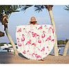 """Коврик для пляжа и отдыха """"Розовый фламинго"""" (пляжный коврик полотенце), фото 3"""