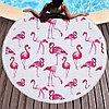 """Коврик для пляжа и отдыха """"Розовый фламинго"""" (пляжный коврик полотенце), фото 5"""