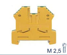 SL 2,5/35 Ex GNYE Проходная клемма заземления взрывозащищенная, Винтовое соединение, 2,5 mm², Conta Clip