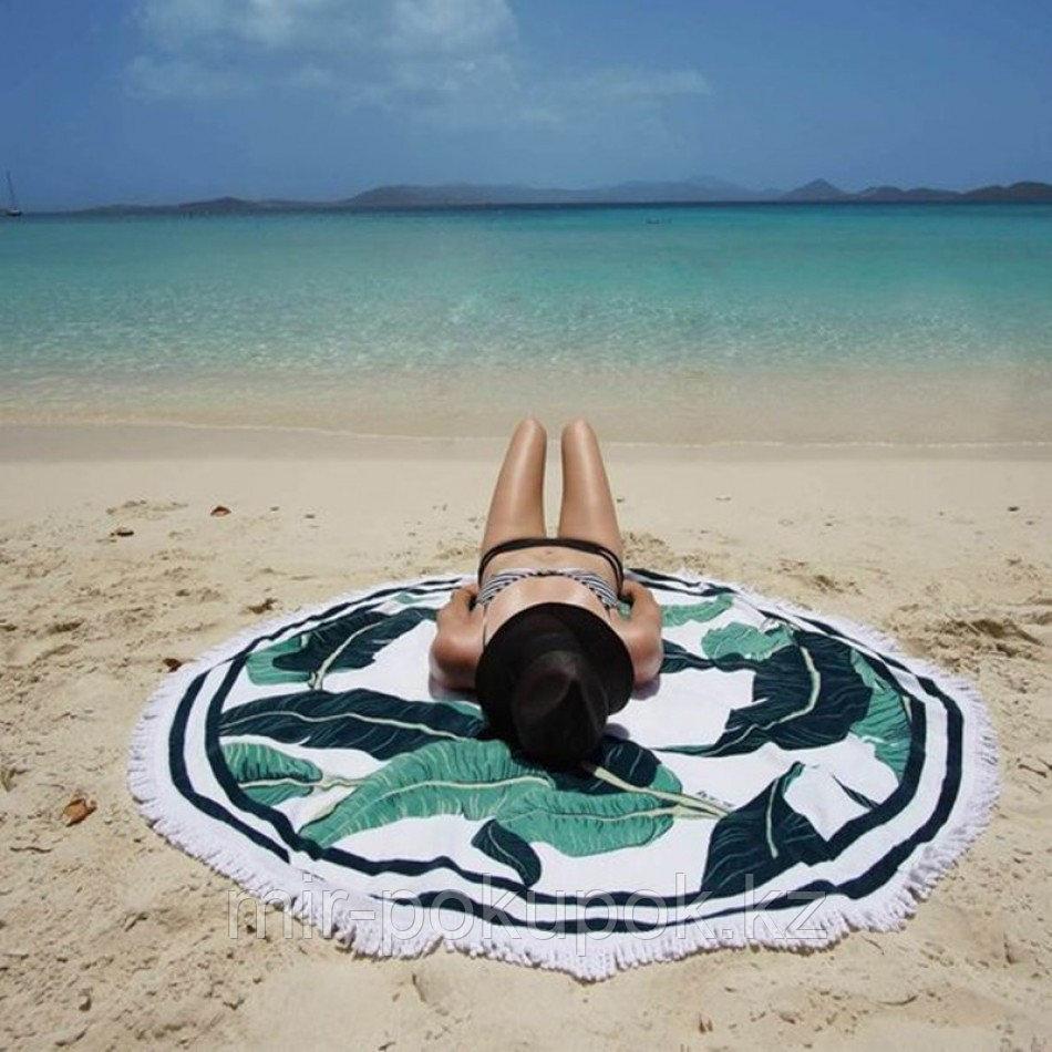 """Коврик для пляжа и отдыха """"Тропики"""" (пляжный коврик полотенце)"""