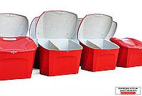 Ящик для песка BOXSAND  0,5 м3 двухсекционный